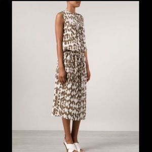 Vince tonal print shirt dress silk size S